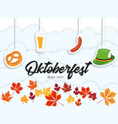 Oktoberfest gothic calligraphic hand lettering vector