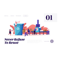 Paper waste environmental protection website vector