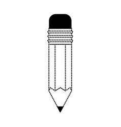 pencil design tool in black dotted contour vector image