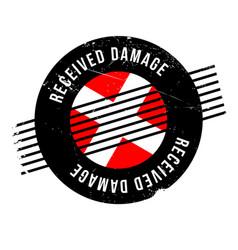 Received damage rubber stamp vector