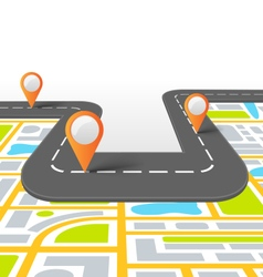 Road Information Background with Map vector image