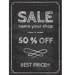Sale chalk vector image vector image