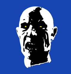 Scary zombie face vector