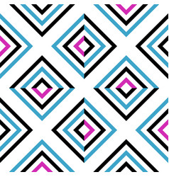 seamless geometric colored striped pattern with vector image