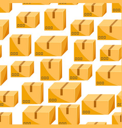 seamless pattern of packing boxes vector image