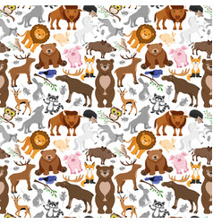 Seamless pattern with animals vector