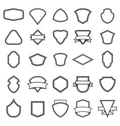 set of the empty emblems isolated on white vector image