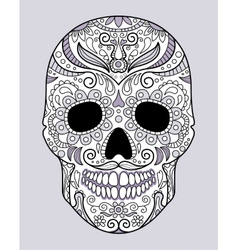 skull in different monograms original design vector image