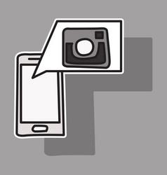 Sticker unusual look web icon of modern lineart vector