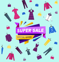 Super sales proposition on all clothing vector