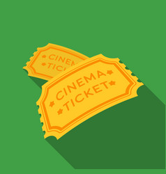 ticket icon in flat style isolated on white vector image