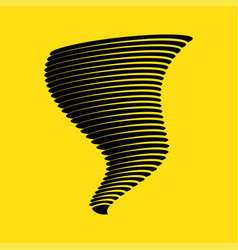tornado symbol isolated on yellow background vector image