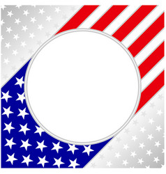 usa flag symbolism poster card with clean space vector image