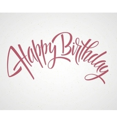 Vintage Happy Birthday Typographical Background vector image