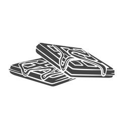 Waffles glyph icon vector