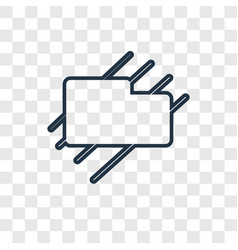 Wipe concept linear icon isolated on transparent vector