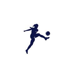 Women football club logo design vector