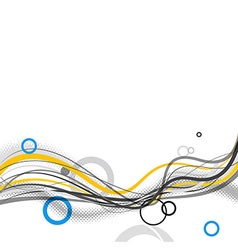Abstract simple lines and circles in footer art vector image vector image