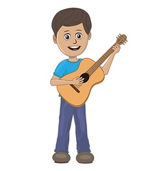 boy playing guitar vector image