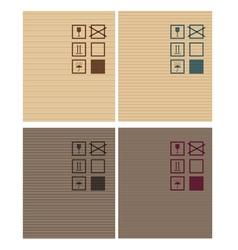 Cardbox textures vector image vector image