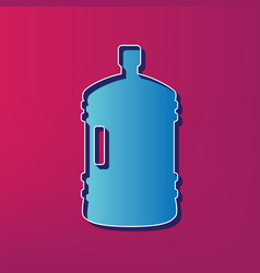 plastic bottle silhouette sign blue 3d vector image vector image