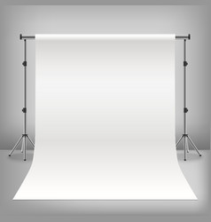 realistic detailed 3d photo studio white vector image vector image
