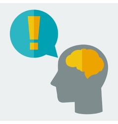 Brainstorm idea concept in flat style vector image