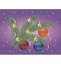 Christmas pine branch vector