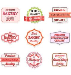 Collection of vintage bakery logo badges vector