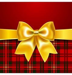 Festive background with ribbon bow vector image vector image