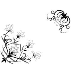 Floral decorative element for corner design vector image