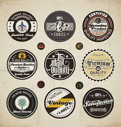 Retro labels collection vector