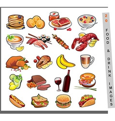 20 food images vector image