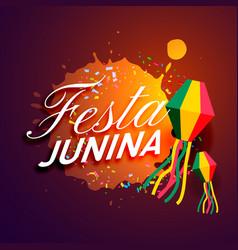 Party of festa junina festival invitation card vector