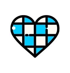 Thin line oktoberfest heart vector