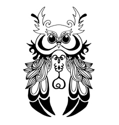 Very High quality owl or filin for coloring or vector image vector image