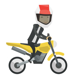 young asian man riding motorcycle vector image vector image