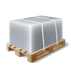 cargo on a wooden pallet vector image