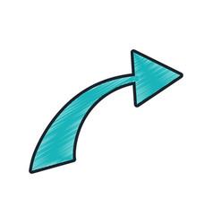 drawing green arrow icon vector image