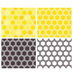 Honeycomb seamless pattern set vector image vector image