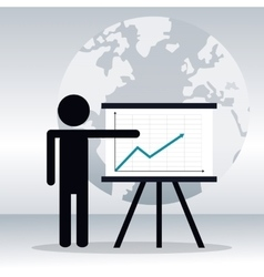 Pictogram person business presentation chart vector