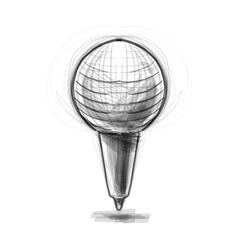 Retro classic microphone vector image