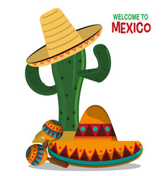 viva mexico celebration party poster vector image vector image