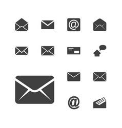 13 address icons vector