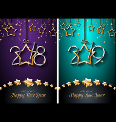 2018 2019 happy new year backgrounds for your vector