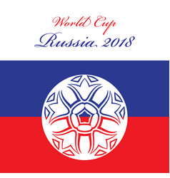 Abstract foot ball icon over russian flag vector
