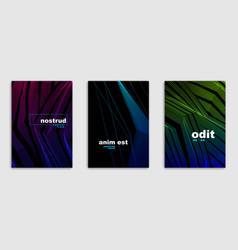Abstract lines minimal modern brochures design vector