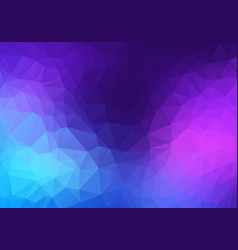 abstract pink blue purple low poly crystal vector image