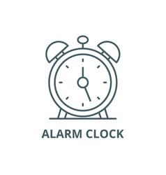 alarm clock line icon alarm clock outline vector image