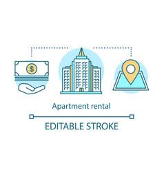 Apartment rental concept icon vector